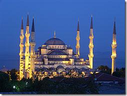 Голучая Мечеть в Стамбуле