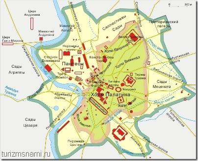План расположения Рима