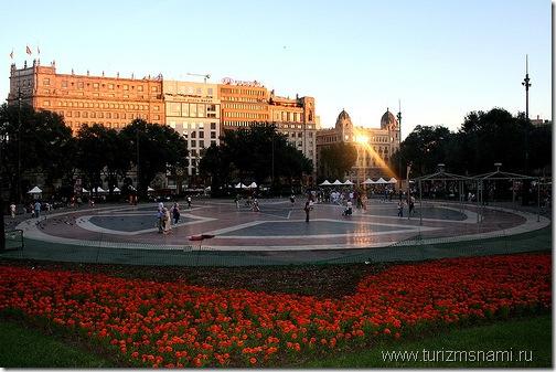Достопримечательности Испании. Площадь Каталонии