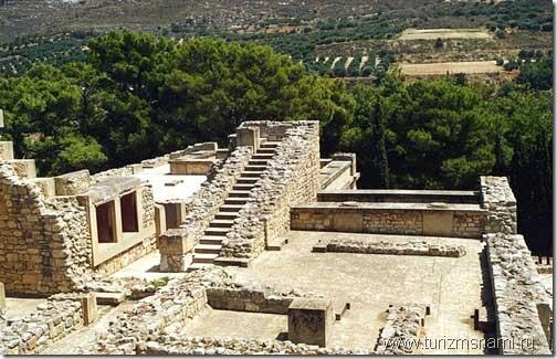 Достопримечательности Крита. Минойский дворец Кносса