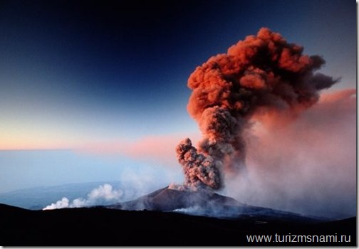 Italy, Sicily, Mount Etna, summit vent