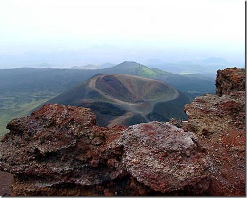 Вулкан Этна где находится кратер