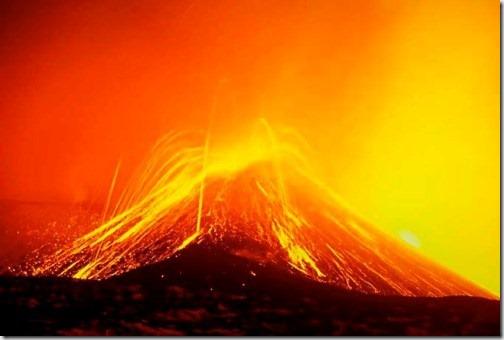 Извержения Вулкана Этна