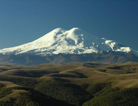 Самый высокий вулкан Европы Эльбрус
