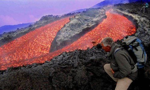 лава вулкана Этна