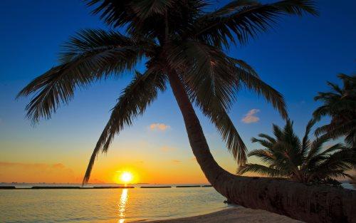 Мальдивы, закат